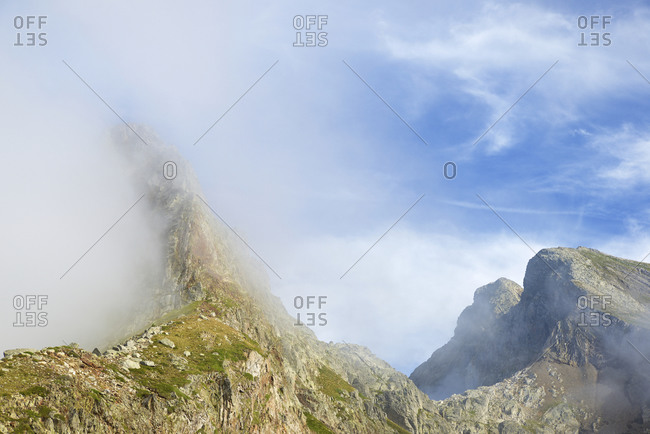 Arrious Peak in Ossau Valley, Pyrenees in France.