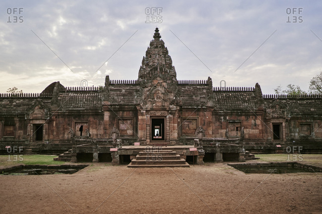 Phanom Rung, a Hindu Khmer Empire temple complex set on the rim of an extinct volcano in Buriram Province, Thailand