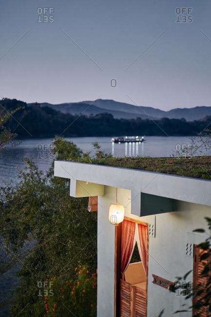A private suite along the riverfront at a villa in Luang Prabang, Laos