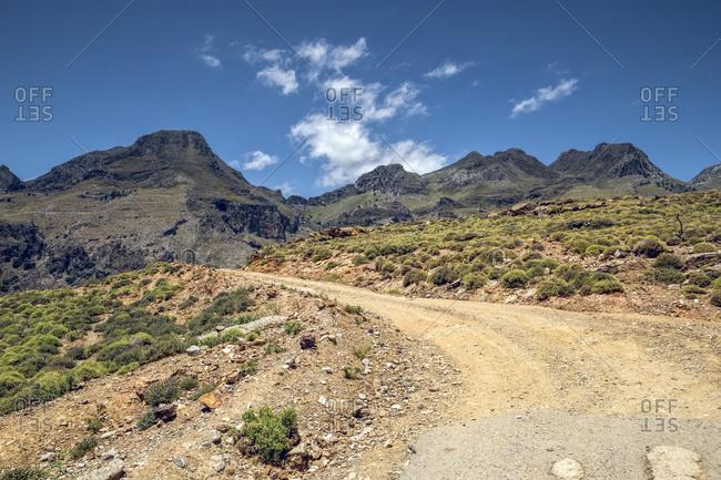 The way forward to mountain at Plakias- Crete- Greece