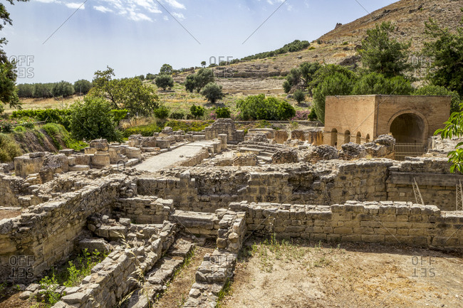 Ancient architecture at Odeon of Gortyn- Crete- Greece