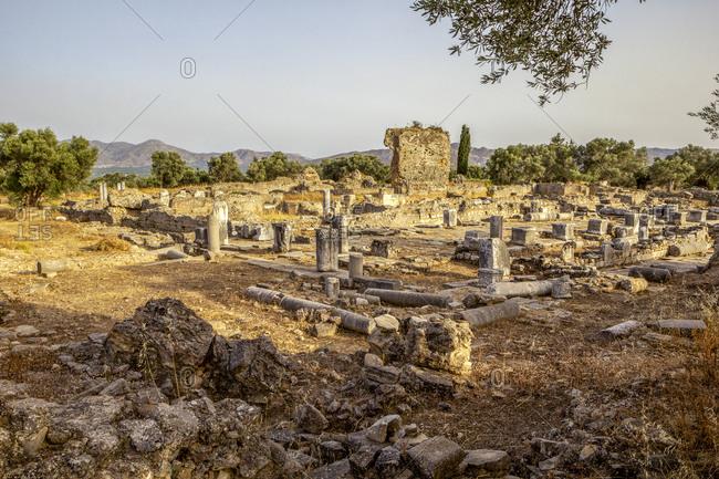 Ancient Apollon temple at Gortyn- Crete- Greece