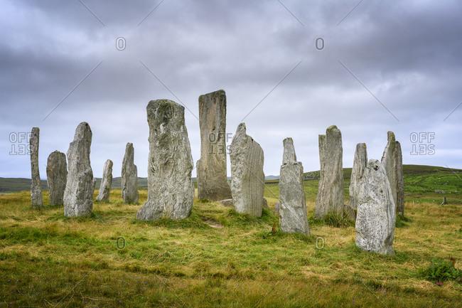 UK- Scotland- Callanish- Callanish Stones onIsle of Lewis