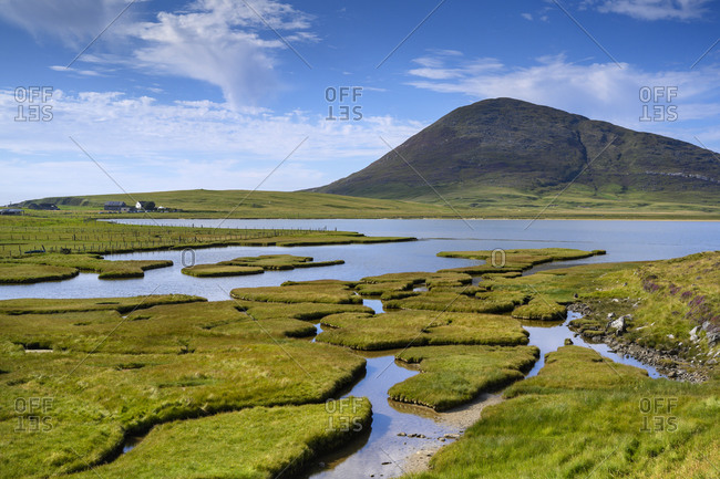Marsh on Isle of Harris withCeapabhalhill in background