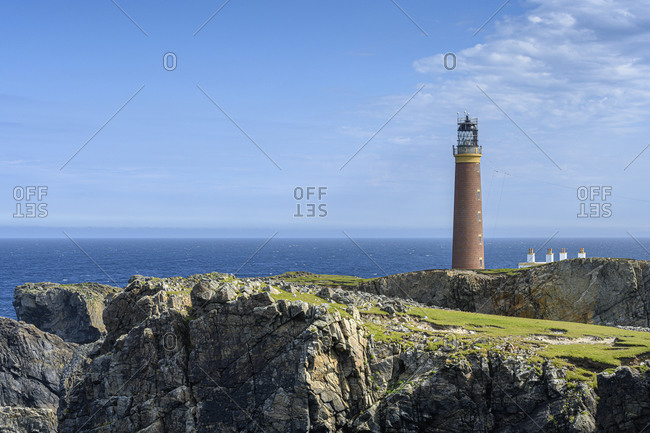 UK- Scotland-Butt of Lewis Lighthouse standingat northernmost edge of Isle of Lewis