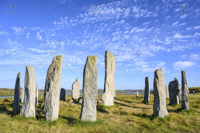 UK- Scotland- Callanish- Callanish Stones on Isle of Lewis