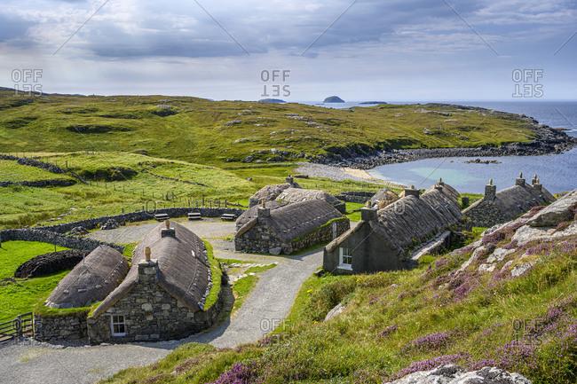 UK- Scotland- Garenin- Old blackhouse village on shore of Isle Of Lewis