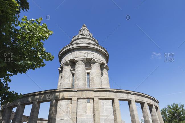 Germany- Thuringia- Eisenach- Burschenschaftsdenkmal against clear blue sky