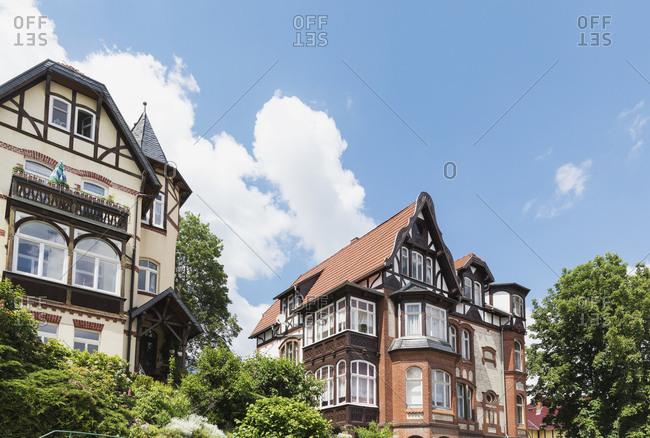Germany- Thuringia- Eisenach- Historical villas in Predigerberg/Hainstein quarter