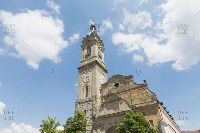 Germany- Thuringia- Eisenach- Bell tower of Saint Georges Church