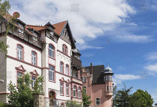 Germany- Thuringia- Eisenach- Historical villas inPredigerberg/Hainsteinquarter