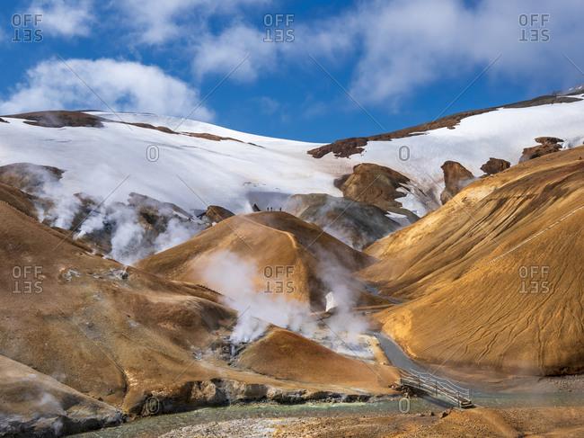 Iceland- Southern Region-Hveradalirhot springs inKerlingarfjollrange