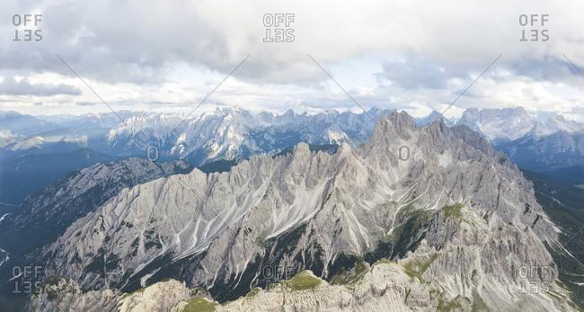 Scenic view of rocky mountain peaks against sky- Sesto Dolomites- Dolomites- Alto Adige- Italy