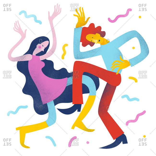 Boy and girl dancing at a party