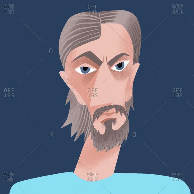 Portrait of a caucasian bearded man