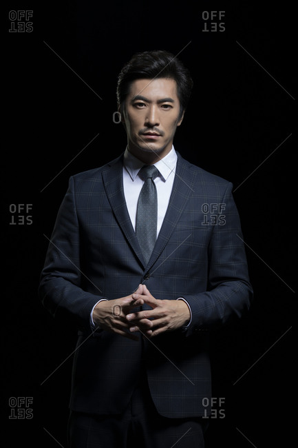 Successful Chinese businessman in a suit