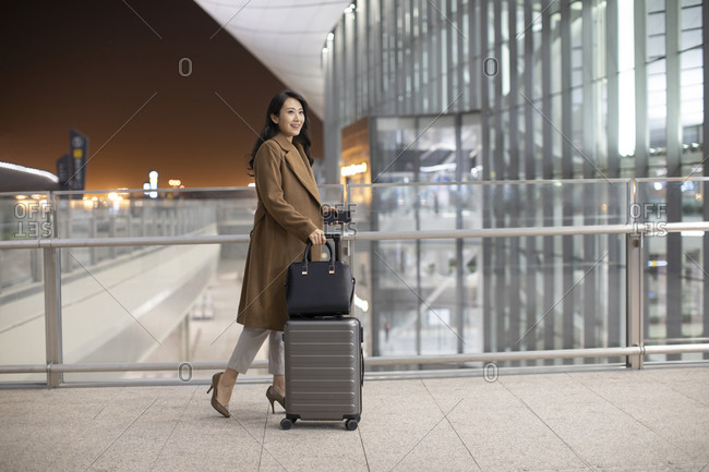 Young Chinese businesswoman in airport