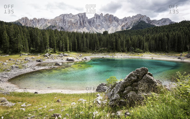 Italy, south tyrol, dolomites, karersee