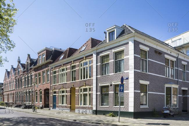 Historic houses in groningen, netherlands