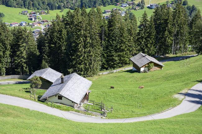 Austria, montafon, landscape below garfrescha.