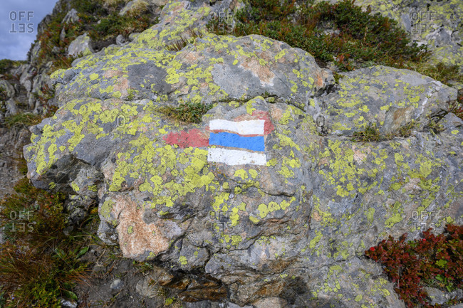 Austria, montafon, marked hiking trail.