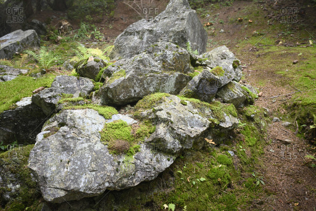 Austria, montafon, rocks at Partanen.