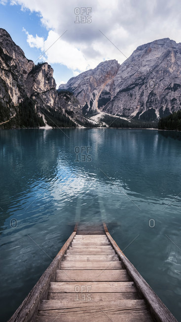 Italy, south tyrol, dolomites, pragser wildsee