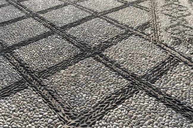 Spain, Granada, albaicin, pavement, pattern, square