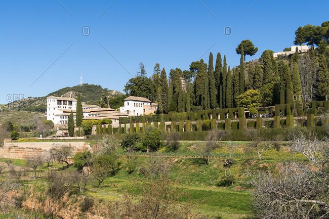 Spain, Granada, generalife, gardens, jardines del generalife