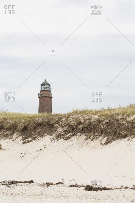 Darer ort lighthouse, dark, mecklenburg-west pomerania, germany