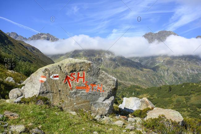 Austria, montafon, hiking trail to saarbruecker hut.