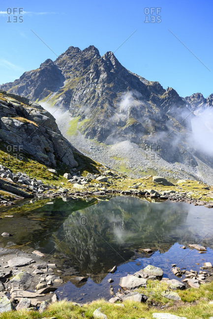 Austria, montafon, valgraggeskopf (2820 m) and valgraggesturm.