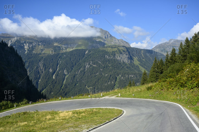 Austria, montafon, the silvretta high alpine road.