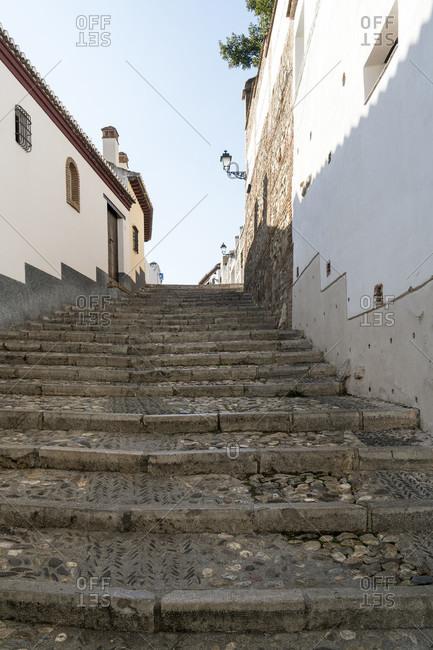Granada (Spain), albaicin district, calle san nicolas, stairs