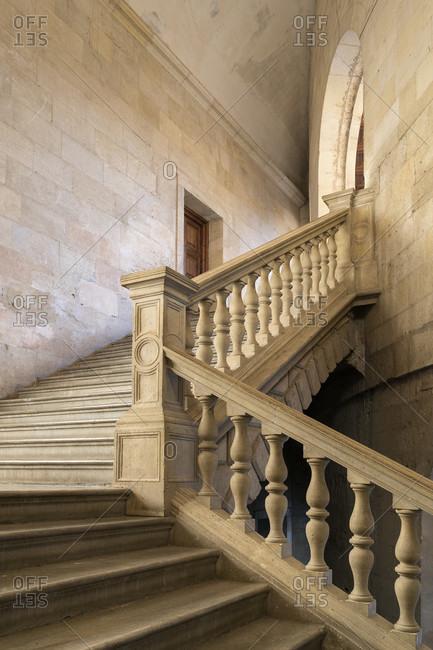 Granada (Spain), alhambra, palacio de carlos v., stairwell