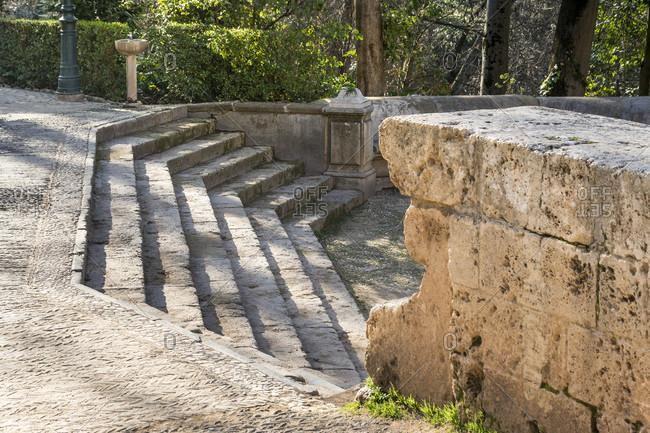 Granada (Spain), alhambra, pilar de carlos v., stairs