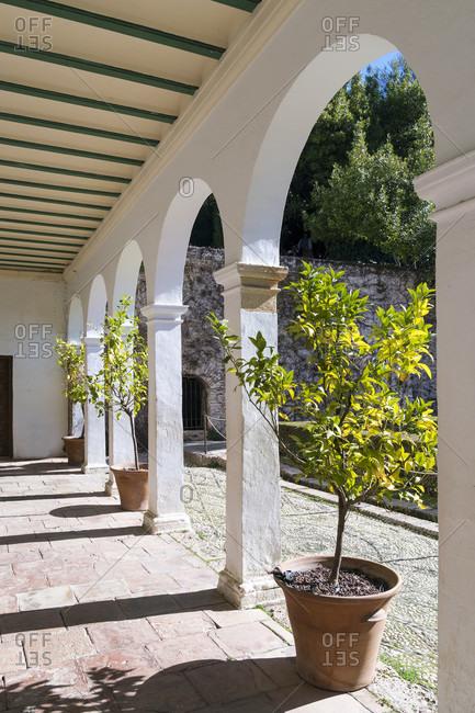 Spain, Granada, generalife, garden, patio de la sultana