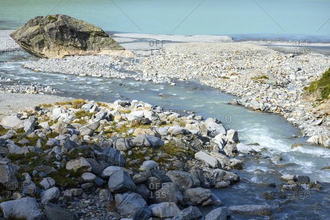 Austria, montafon, the ill flows into the silvrettasee.