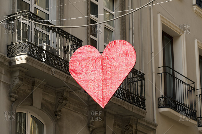 Granada (spain), old town, street, heart for valentine's day