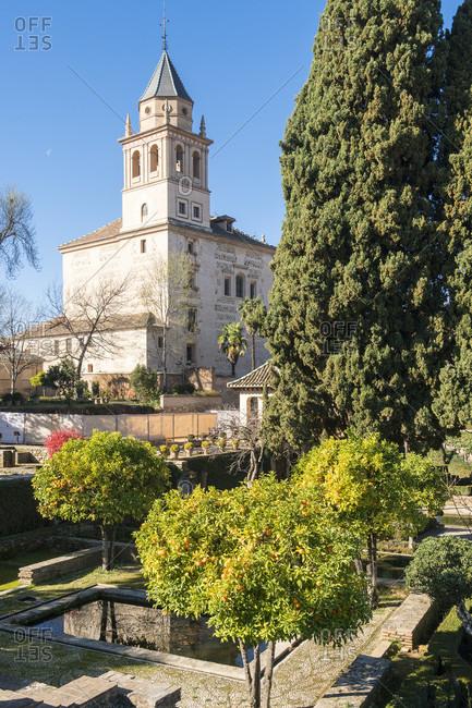Spain, granada, alhambra, iglesia de santa maria de alhambra