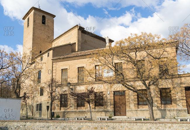Spain, granada, albaicin, historic district, iglesia de san cristobal