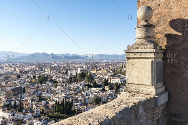Spain, granada, alhambra, alcazaba, torre de la vela, watchtower