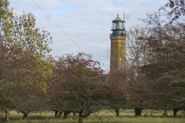 Lighthouse on the oie, greifswalder oie, mecklenburg-west pomerania, Germany