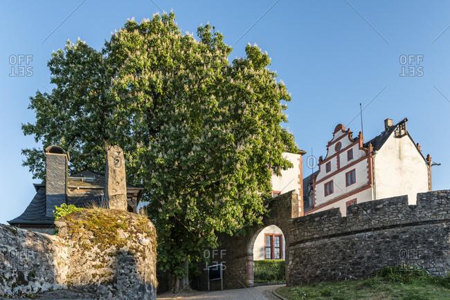 Lichtenberg, hesse, Germany, lichtenberg castle in the fischbach valley, odenwald.