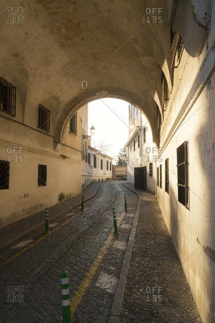 Granada (spain), albaicin district, alley, san juan de los reyes
