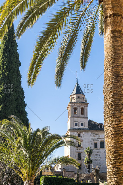 Spain, granada, alhambra, partal, iglesia de Santa maria de alhambra