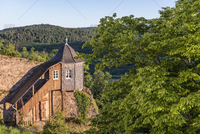 Lichtenberg, hesse, Germany, christkindlshaus in lichtenberg castle in fischbach valley, odenwald.