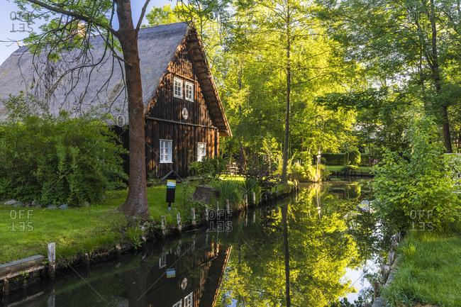 May 7, 2018: spreewalddorf lehde near LeBeau, spreewald, lausitz, brandenburg, Germany