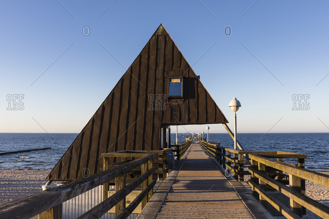 May 7, 2018: seaside resort koserow, usedom island, mecklenburg-west pomerania, Germany
