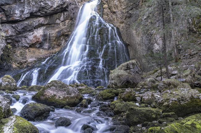 Europe, Austria, salzburg state, tennengau, golling an der salzach, golling waterfall